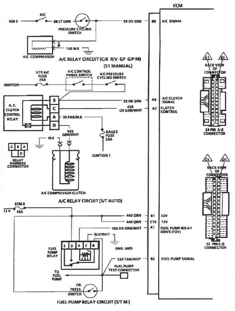 Ecm on 96 S10 Wiring Harness Diagram