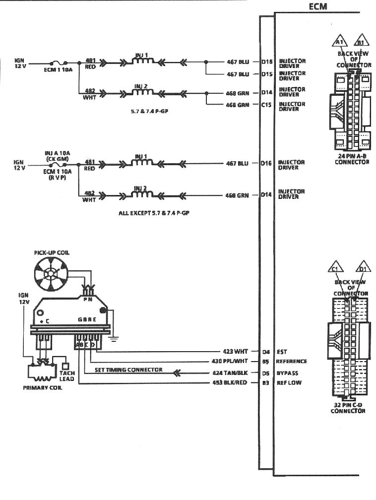 747ecm6 wedgeparts triumph tr8 gm throttle body fuel injection (tbi 1987 chevy truck ecm wiring diagram at creativeand.co